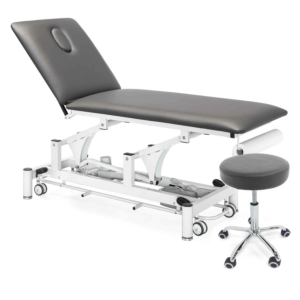 Table PhysioPRO et tabouret gris assorti
