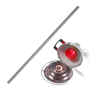 Tube inox 95 cm Lampe IRP et IRG