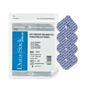Électrodes à clip Dura-Stick® Plus 5 x 5 cm