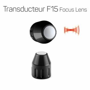 Transducteur F15 à lentille focale