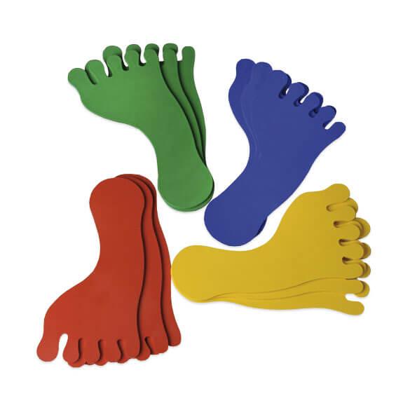 Empreintes de pied (x6)
