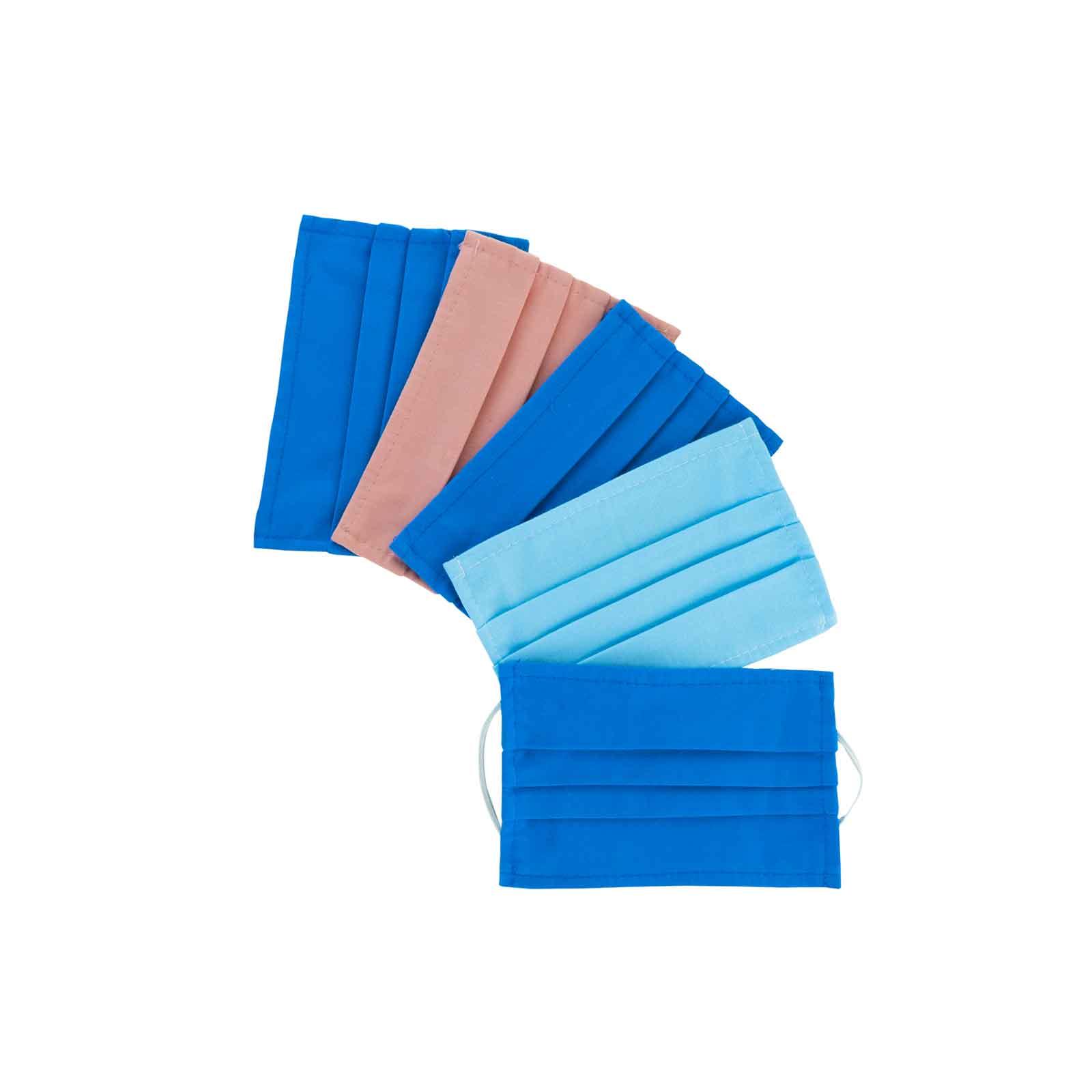 Lot de 5 Masques barrières -  Tissu Coton - Enfant
