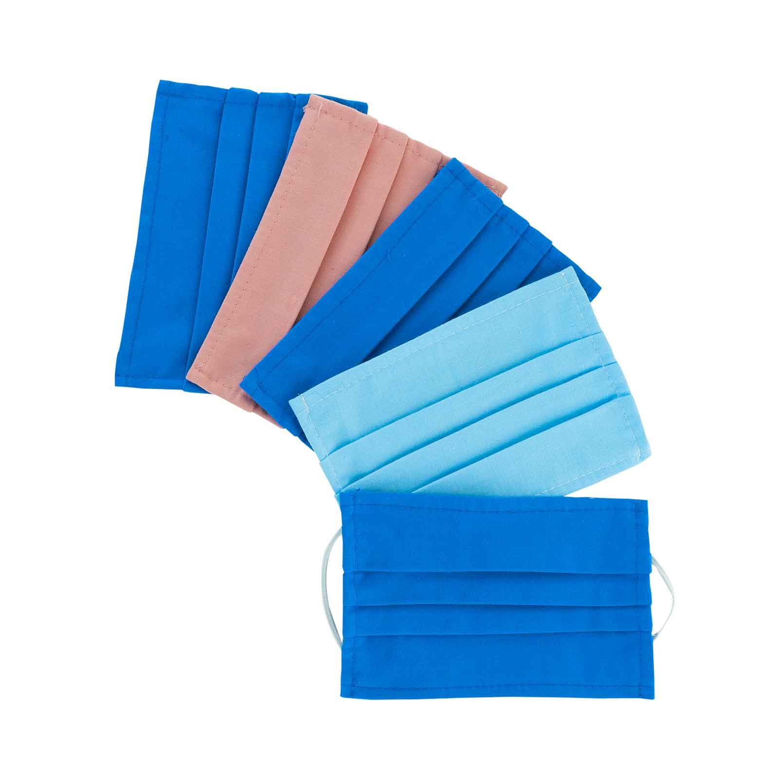 Lot de 5 Masques barrières -  Tissu Coton - Femme