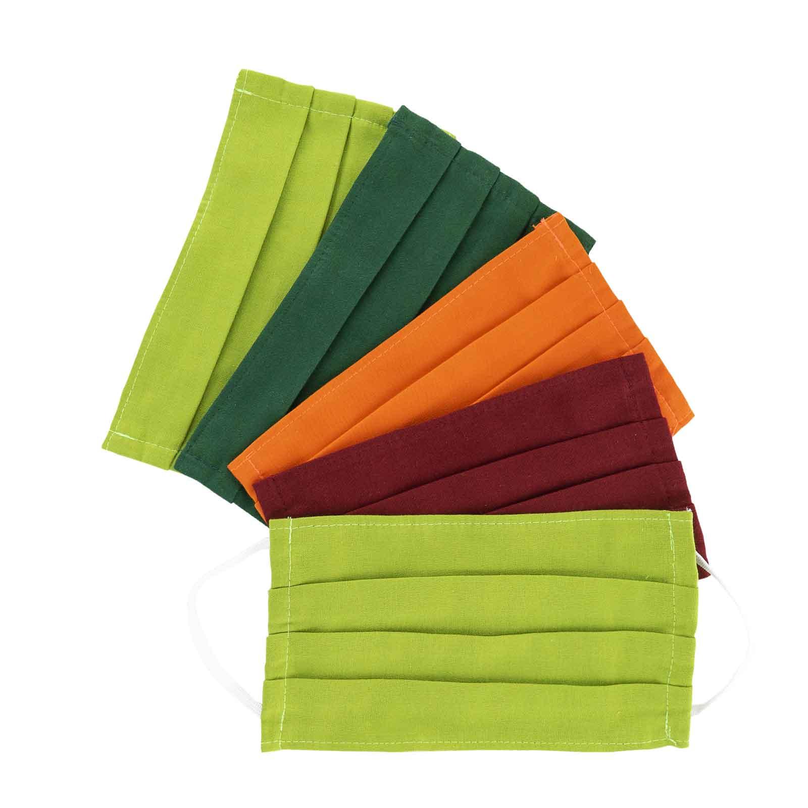 Lot de 5 Masques barrières -  Tissu Coton - Homme