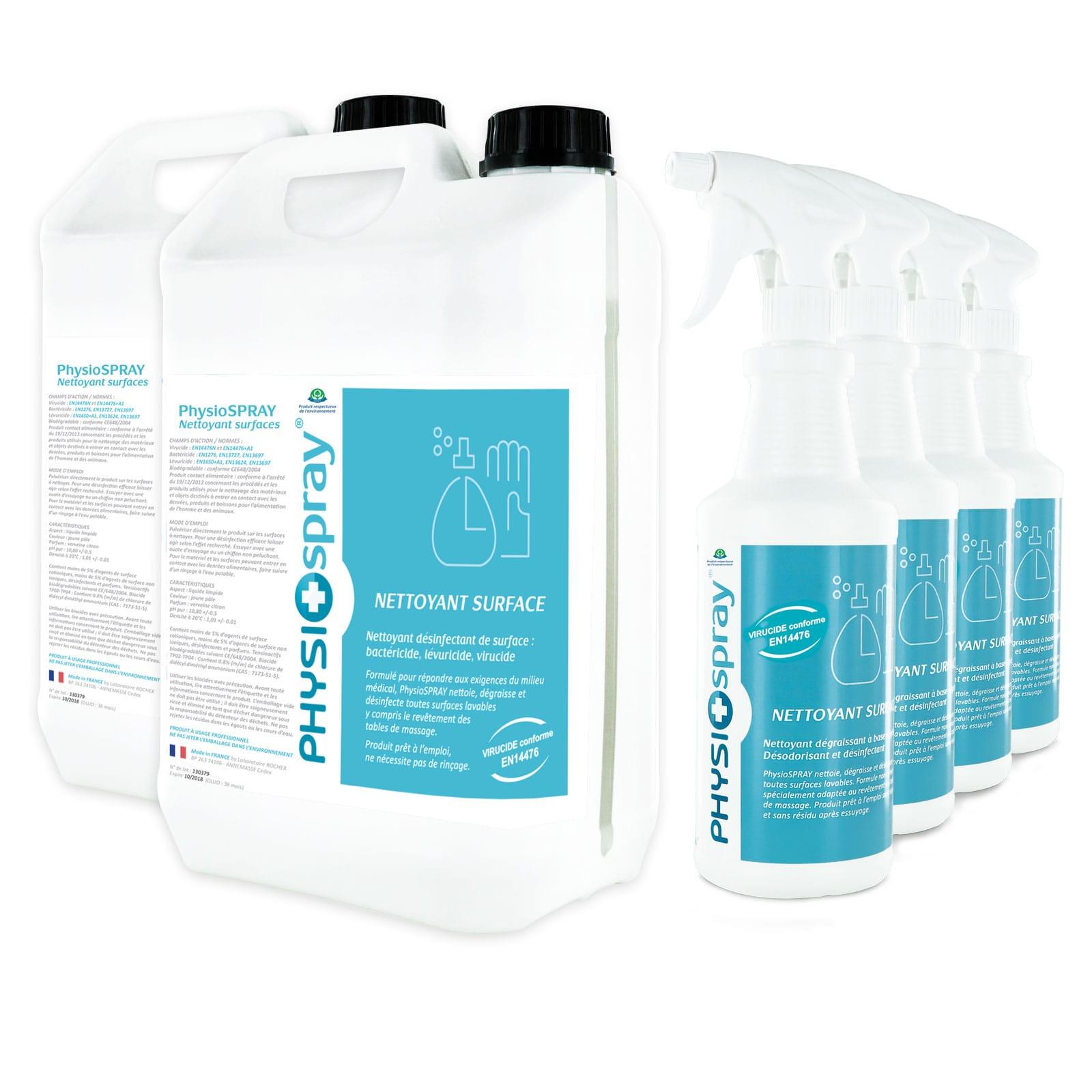 Pack Désinfectant virucide (2x5L +4x750mL)