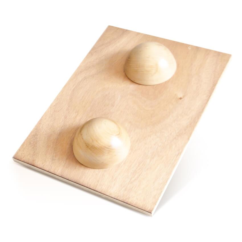 Plateau d'équilibre rectangulaire avec 1/2 sphères