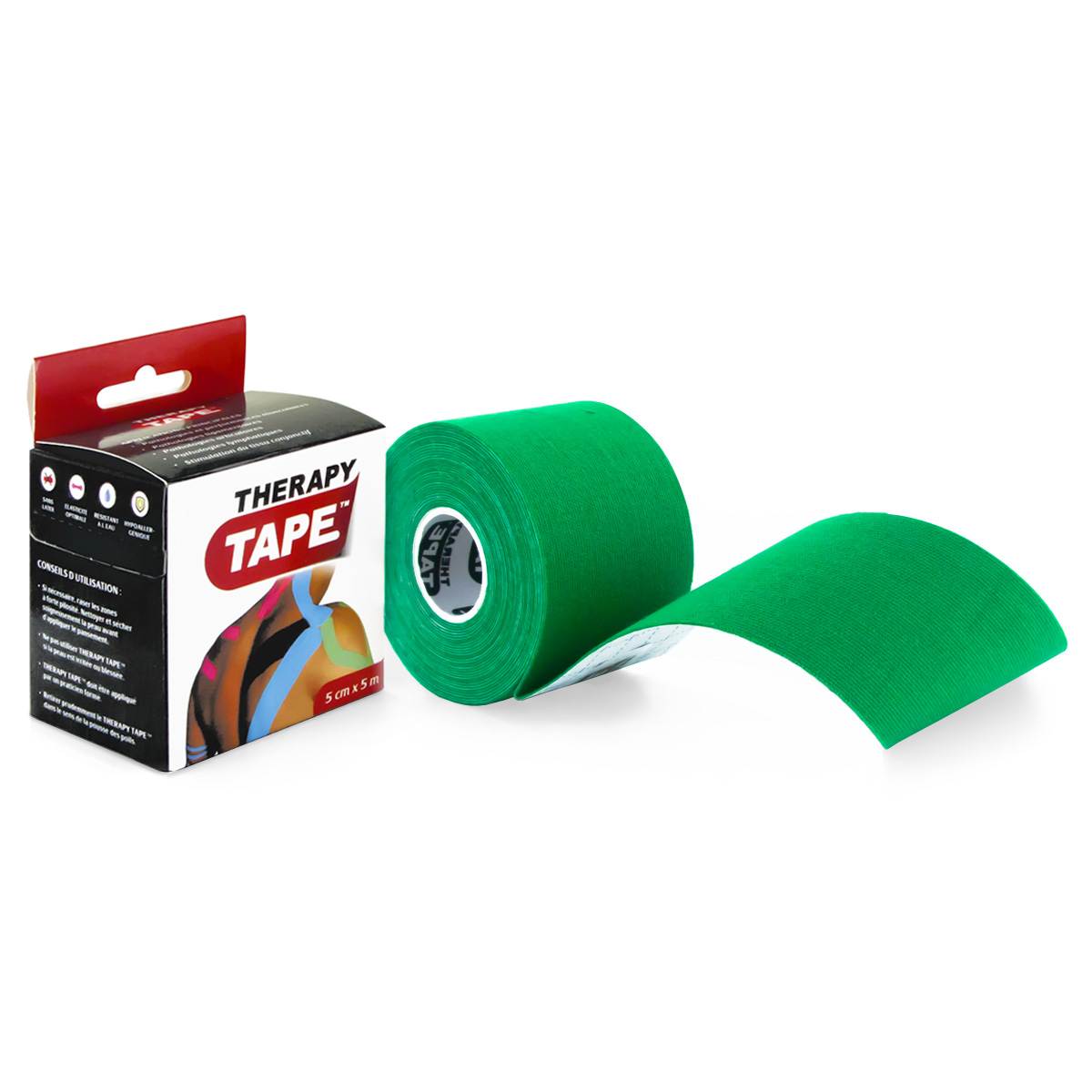 Therapy Tape - Rouleau Vert - 5m
